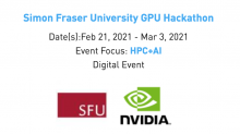 Screenshot of event date details for NVIDIA GPU Hackathon at SFU on Feb 22 to March 03